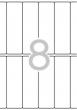 APLI etikett, A5, 31x100 mm, kerekített sarkú, 136 db