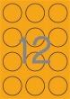 APLI etikett, A4, 60 mm, kör, neon narancs