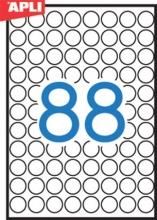 APLI etikett, A5, 16 mm, kör
