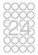 APLI etikett, A4, 40 mm, kör, biztonsági címke
