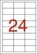 APLI etikett, A4, 64,6x33,8 mm, 3 pályás, vízálló, fehér, lézer