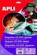 APLI etikett, A4, 117/18 mm, Mega univerzális, matt magyar nyelvű, CD/DVD címke
