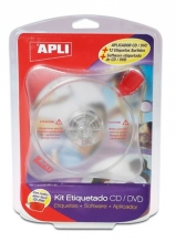 APLI CD/DVD címkéző készlet, 12 lap, szoftverrel