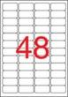 APLI etikett, 45,7x21,2 mm, biztonsági