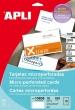 APLI névjegykártya, A4, 90x50,8 mm, 200 g, mikroperforált