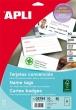APLI névjegykártya, A4, 90x55 mm, 200 g, mikroperforált