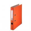 ESSELTE iratrendező, A4, 50 mm, PP/karton, élvédő sínnel, Economy, narancs, E81171