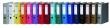 DONAU iratrendező, A4, 75 mm, PP/karton, középkék