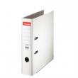 ESSELTE iratrendező, A4, 75 mm, PP/karton, élvédő sínnel, Economy, fehér, E11250