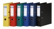 DONAU iratrendező, A4, 75 mm, PP, élvédő sínnel, Premium, piros