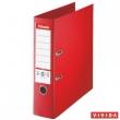 ESSELTE iratrendező, A4, 80 mm, PP/PP, élvédő sínnel, Jumbo Plus, piros, E81183