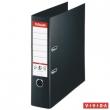 ESSELTE iratrendező, A4, 80 mm, PP/PP, élvédő sínnel, Jumbo Plus, fekete, E81187