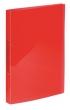 VIQUEL gyűrűskönyv, A4, 25 mm, 2 gyűrűs, PP, Propyglass, piros