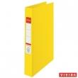 ESSELTE gyűrűskönyv, A4, 40 mm, 2 gyűrűs, Standard, sárga, E14450