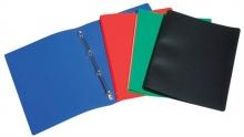 VIQUEL gyűrűskönyv, A4, 25 mm, 4 gyűrűs, PP, Standard, piros