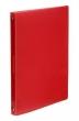 VIQUEL gyűrűskönyv, A4, 25 mm, 4 gyűrűs, PP, Propyglass, piros