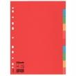 ESSELTE elválasztó lap, A4, karton, 10 részes, Economy, színes, E100201