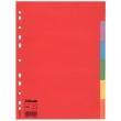 ESSELTE regiszter, A4, karton, 1-6, Economy, színes