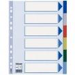 ESSELTE elválasztó lap, A4, műanyag, 6 részes, színes, E15260