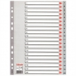 ESSELTE regiszter, A4, műanyag, 1-20, szürke