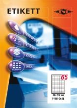 PD etikett, A4, 38,1x21,2 mm, 5 pályás, szegéllyel