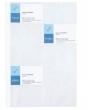 VIQUEL névjegykártyatartó genotherm, lefűzhető, A4, 100 mikron, 20 db kártya/ív, víztiszta