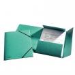 ESSELTE gumis mappa, A4, 15 mm, prespán, Luxus, zöld, E26596