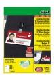 SIGEL névkitűző, műanyag csíptetővel, nyomtatható, újrahasznosított, 225 g