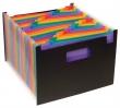 VIQUEL harmonika mappa, A4, 25 rekeszes, Rainbow Class, fekete
