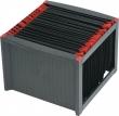 HELIT függőmappa tároló, fekete/piros