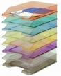 DONAU irattálca, műanyag, áttetsző, kék