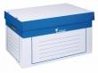 VICTORIA archiváló konténer, 320x460x270 mm, fehér-kék