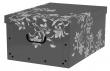 MULTIBRAND tárolódoboz, 33x25x16 cm, virágok, bordó