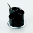 HELIT írószertartó, asztali, forgatható, fekete/ezüst