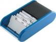 HELIT névjegytartó, fekvő, rolós, 300 db-os, Linear, kék