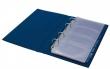 PANTA PLAST névjegytartó, 200 db-os, PVC, 4 gyűrűs, kék