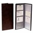 ESSELTE névjegytartó, merev borítós, 128 db-os, 12,5x26,5 cm, fekete