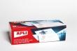 APLI névkitűző, tűs, csipeszes, fekvő, 90x56 mm