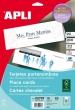 APLI ültetőkártya, 125x180 mm, perforált, 200 g
