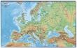 VICTORIA könyökalátét, 36x59 cm, Európa domborzata