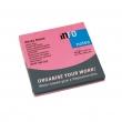 INFO NOTES jegyzettömb, öntapadós, 75x75 mm, 80 lapos, neon pink