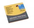INFO NOTES jegyzettömb, öntapadós, 75x75 mm, 80 lapos, neon narancs