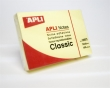 APLI jegyzettömb, öntapadós, 75x50 mm, 100 lapos, sárga