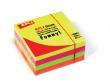 APLI jegyzettömb, öntapadós, 75x75 mm, 400 lapo neon