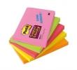 3M POSTIT jegyzettömb, öntapadós, 76x127 mm, 90 lapos, POST-IT Super Sticky neon