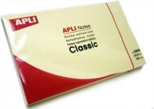 APLI jegyzettömb, öntapadós, 75x125 mm, 100 lapos, sárga