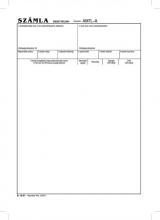 VICTORIA számlagarnitúra, A4, álló, 5 példányos, B.10-01
