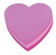 3M POSTIT jegyzettömb, öntapadós, 225 lapos, szív alakú, POST-IT, 3 neon szín