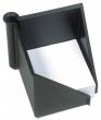 HELIT jegyzettömb tartó, 127x108x127 mm, fekete