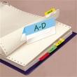3L jelölőcímke, 12x40 mm, 4x6 lap, műanyag, kétoldalas, vegyes